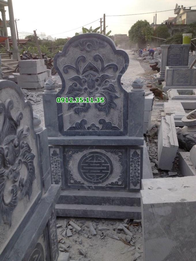 mộ đá đơn giản, mộ không mái