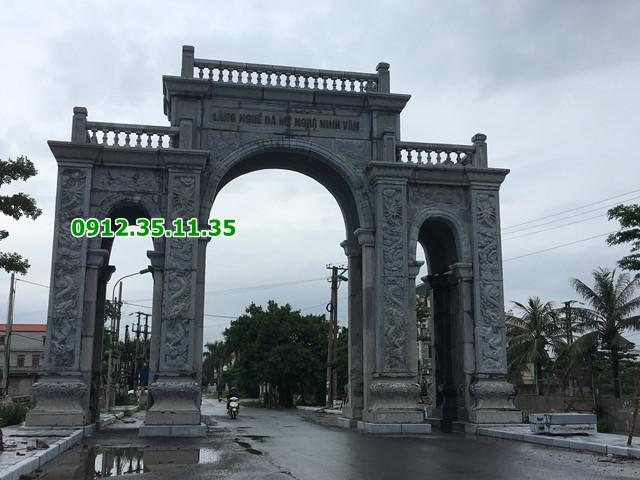 Cổng làng nghề đá Ninh Vân Ninh Bình