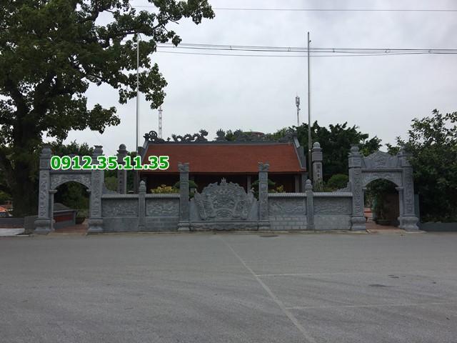 Mẫu cổng chùa bằng đá